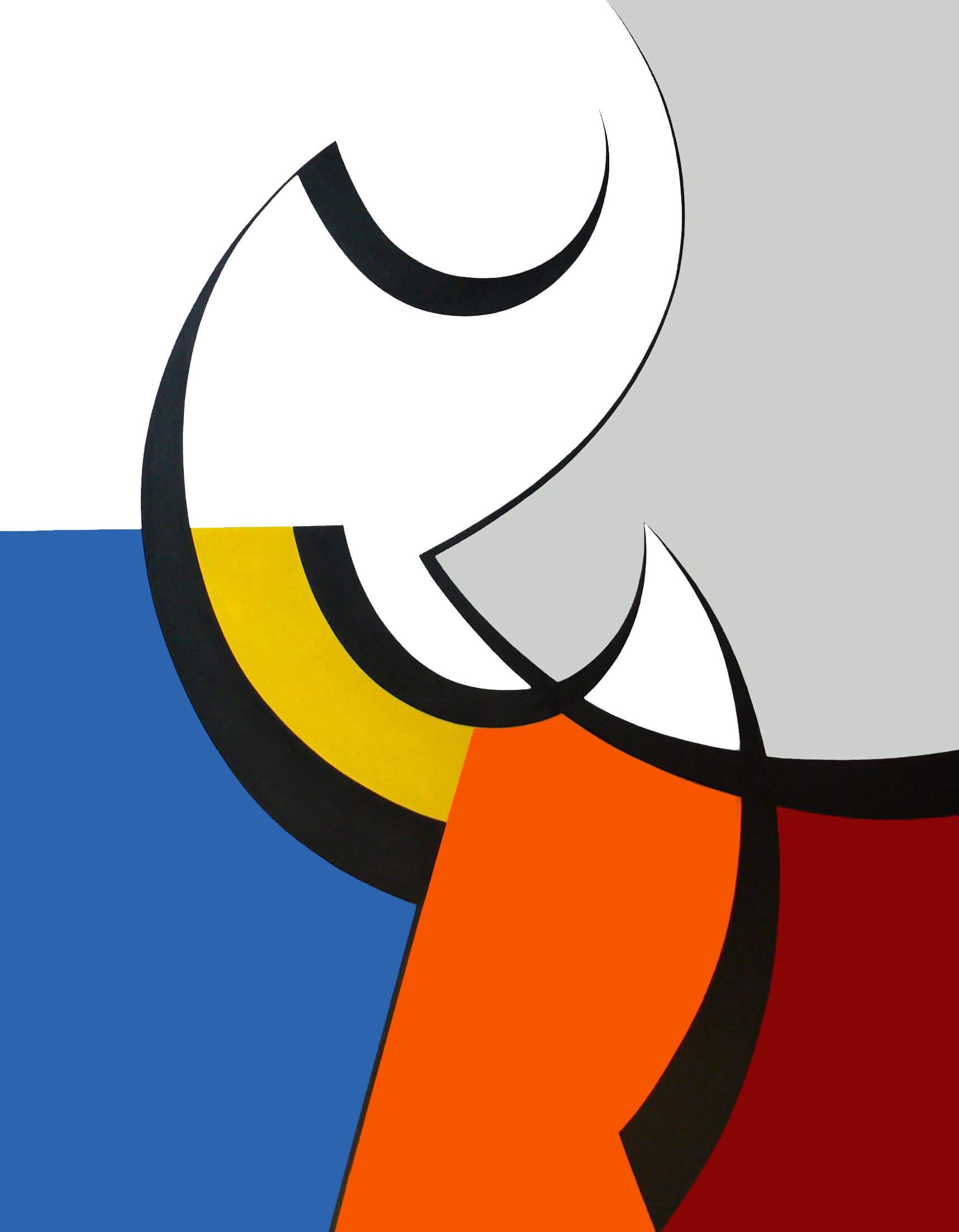 Peinture - Nathalie Lebeau - Début de forme