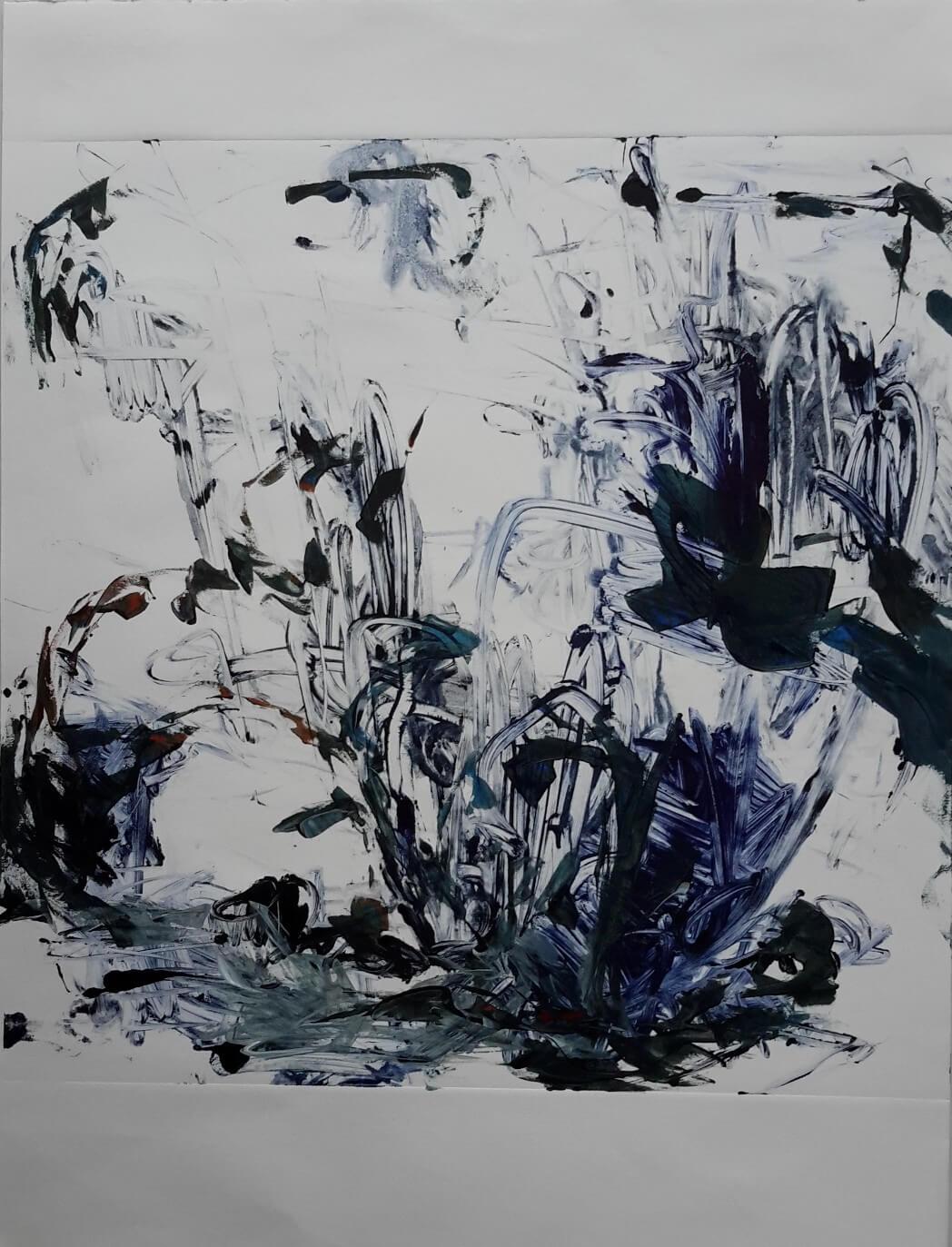 Peinture - Martine Mathieu - A fleur d'eau