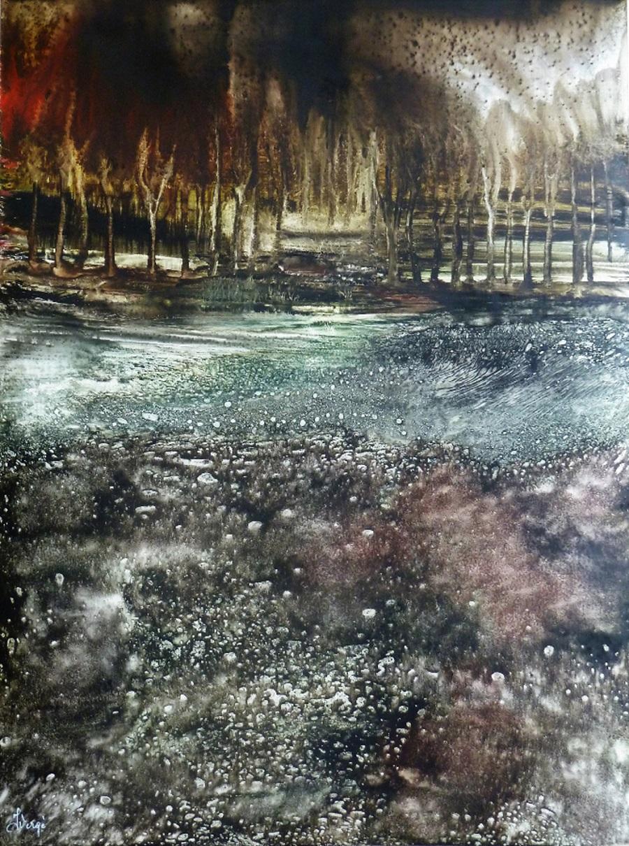 Peinture - Janick Vergé - Prenez le petit chemin
